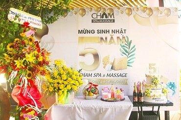 Buổi tiệc sinh nhật 5 năm Cham Spa & Massage đầy ý nghĩa